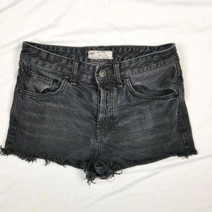 Free people shorts 25 black frayed mini